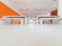 MasterTop TC 417W Clear bildet eine ebenmäßige, matte Oberfläche, die zur Sauberkeit und Langlebigkeit unserer MasterTop Bodenlösungen beiträgt. (Ort: 80. Grundschule, Dresden, Deutschland) / MasterTop TC 417W Clear cures in a smooth and matt finish