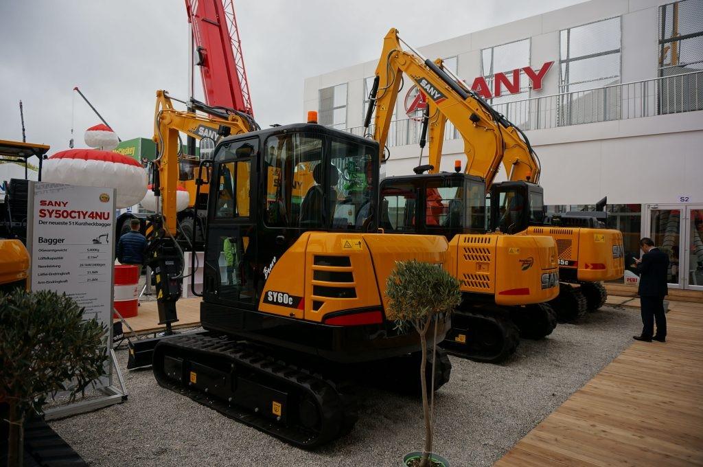 Producătorul chinez Sany lansează pe piața europeană o nouă gamă de excavatoare