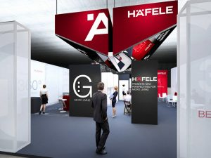 The Häfele trade fair booth at Bau 2017.