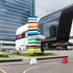 The-Globalworth-Tower,-Record,-usi-rotative-automate,-Blasi,-Aluterm,-Bucuresti,-Bucharest-One-(2)