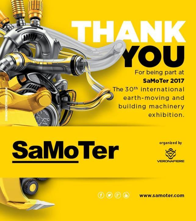 """SAMOTER 2017: """"SMART"""" EXCAVATORS WITH GEO-RADAR AND HYBRID ENGINES  THE FUTURE OF EARTH MOVING ON SHOW IN VERONA"""
