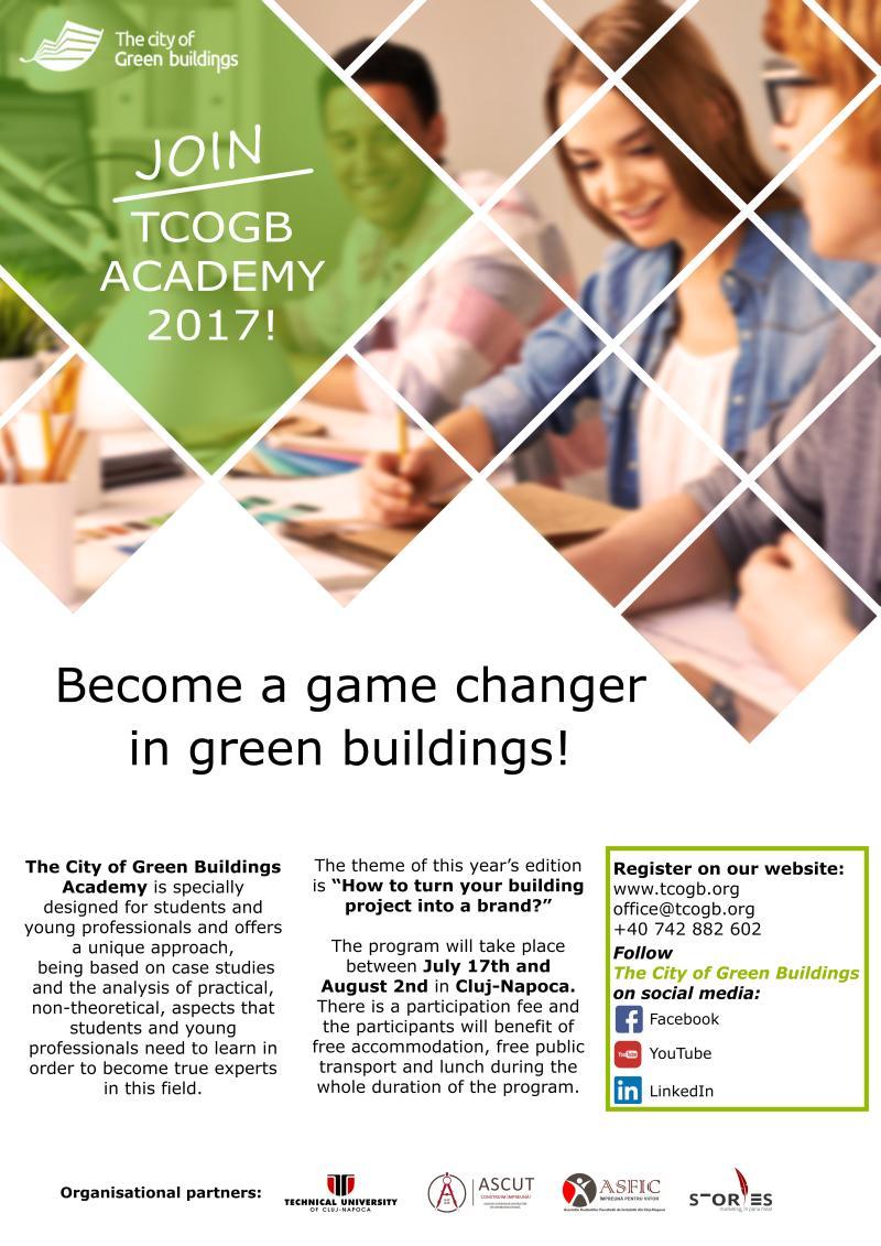 S-a dat startul înscrierilor pentru The City of Green Buildings Academy 2017