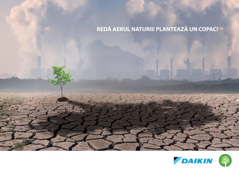 """Daikin România are grijă de calitatea aerului interior și exterior  prin campania de responsabilitate socială """"Plantăm Aer"""""""