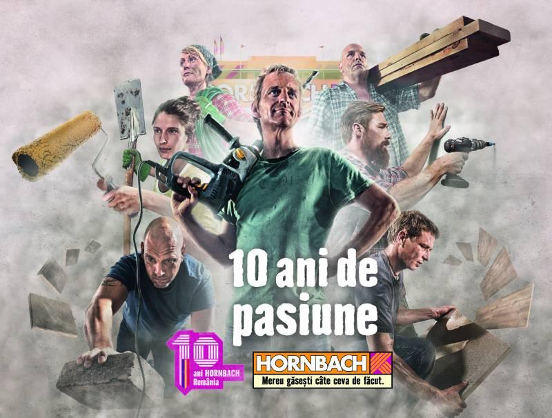 10 ani de pasiune HORNBACH – noua campanie aniversară de publicitate