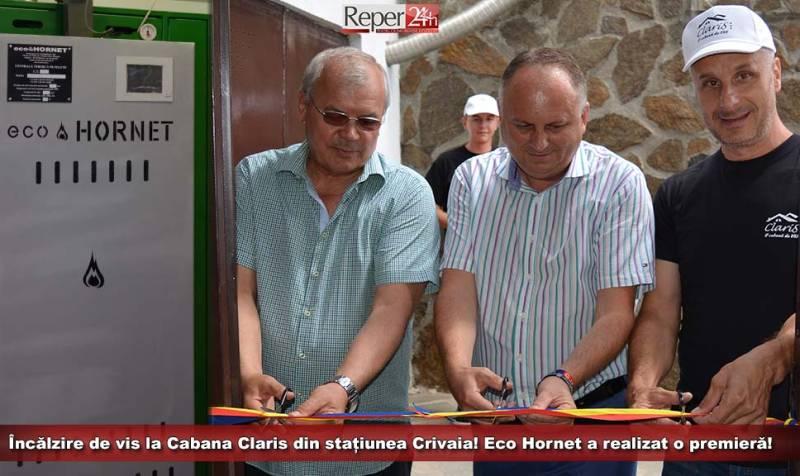 Încălzire de vis la Cabana Claris din stațiunea Crivaia! ecoHornet a realizat o premieră!
