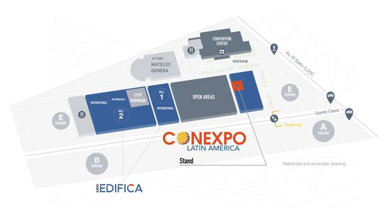 View overview map of Expo Edifica 2017