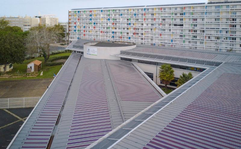 Heliatek's HeliaSol on a standing seam roof system in La Rochelle, France