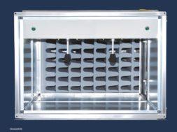 "Der Melaminharzschaumstoff Basotect® der BASF trägt wesentlich zur passiven Schalldämpfung in der neuen ""Akustik-Unit by HOWATHERM®"" bei. / BASF's melamine resin foam Basotect® significantly contributes to the passive sound absorbtion in the ne"