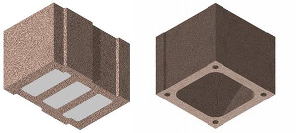 Bisotherm präsentiert auf der BAU 2017 den vollmineralischen Bisomark Hbl 09 und 11 und den neuen Kamin-Mantelstein als Planstein.