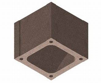 Für die BISOAIRSTREAM Schornsteinsysteme werden die Kamin-Mantelsteinenun als Planstein, mit den Abmessungen 390 x 390 x 333 angeboten. Mit nur 3 Mantelsteinen erreicht man so einen Höhenmeter.  Dateiname: BISOAIRSTREAM Mantelstein Plan Grafik: Bisotherm