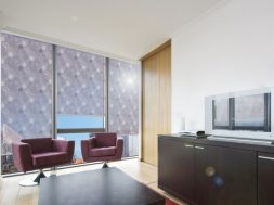 Decorative chic for windows: printed MULTIFILM® film roller blinds