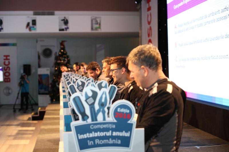 Bosch desemnează instalatorul anului 2016 într-o atmosferă festivă. Peste 500 de persoane participante la competiţie