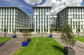 BASF-Bauprodukte in neuem Bürogebäude D 105 am Standort Ludwigshafen / BASF building products in new office building D 105 at Ludwigshafen site