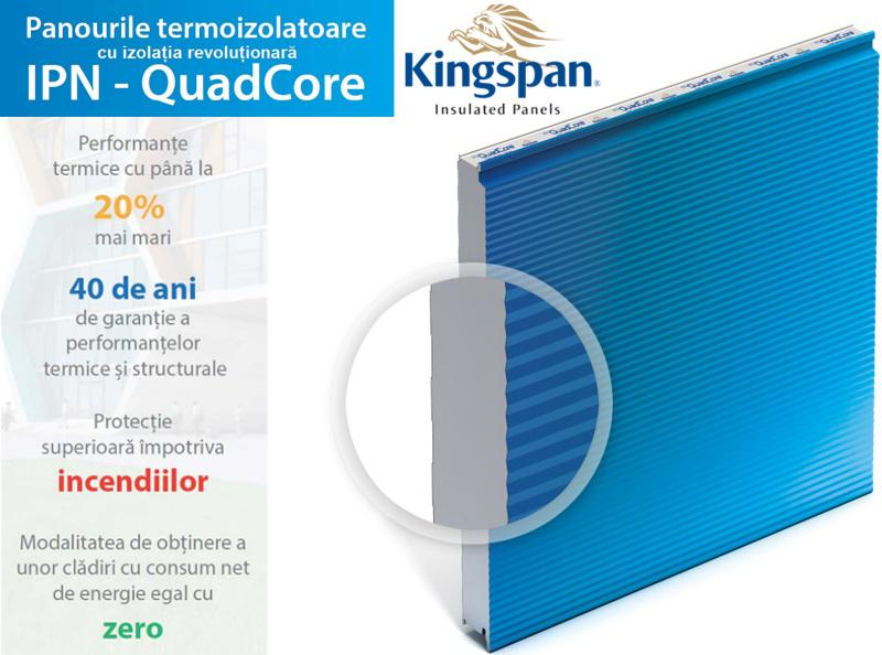 Kingspan Insulated Panels – IPN QuadCore, tehnologie speciala de la Kingspan Insulated Panels