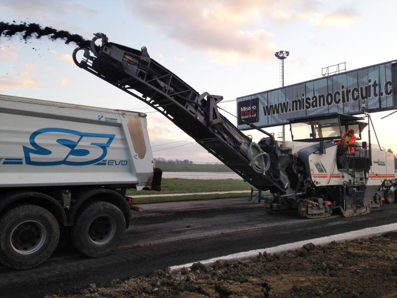 Italy: State-of-the-art milling technology for one of the most famous race tracks in the world of motor sports