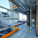 The exclusive use of system scaffolding components with PERI UP Flex accelerated assembly operations and, at the same time, increased safety levels during scaffold use.