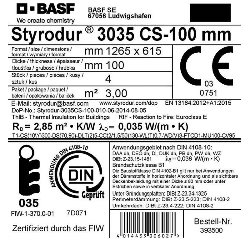 BASF își certifică voluntar panourile de izolație Styrodur