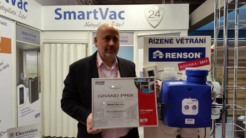Renson Healthbox wins 'Grand Prix' at the For Habitat Fair in Prague (Czech Republic)