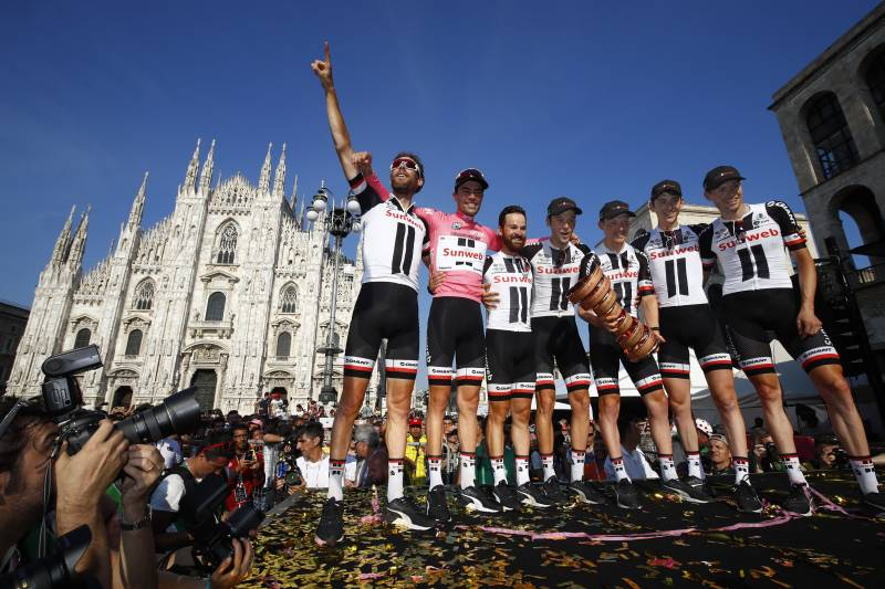 Renson on cloud nine after Tom Dumoulin wins the 100th Giro d'Italia