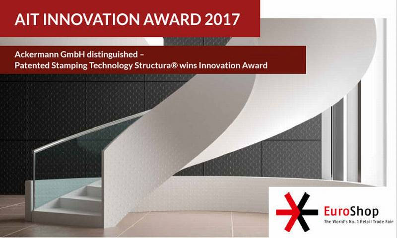 Ackermann GmbH distinguished – Patented Stamping Technology Structura wins Innovation Award