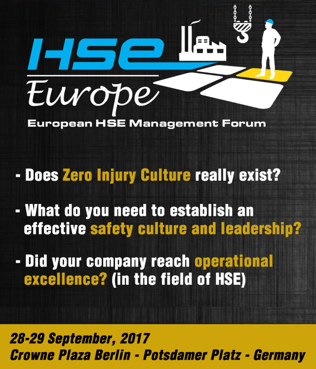Health Safety & Environment Forum, 28-29 September 2017, Berlin, Germany