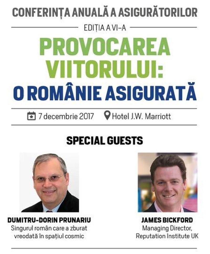 """Uniunea Națională a Societăților de Asigurare și Reasigurare din România anunță organizarea conferinței anuale: """"Provocarea viitorului: o Românie asigurată"""""""
