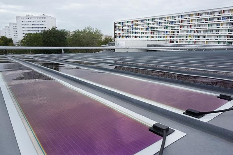 The world's largest BiOPV installation completed in France using Heliatek's Solar Film Solution, HeliaSol®