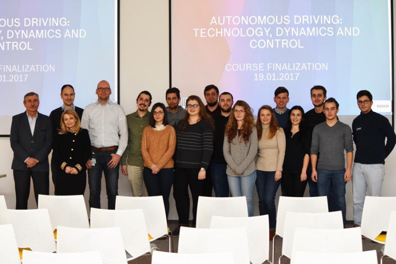 Parteneriat strategic cu mediul academic Bosch a iniţiat un curs de conducere autonomă la Universitatea Tehnică din Cluj-Napoca
