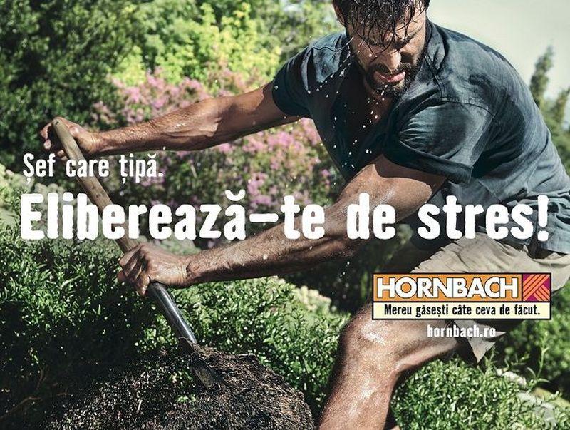 """HORNBACH vestește primăvara prin noua campanie de publicitate: """"Eliberează-te de stres!"""""""
