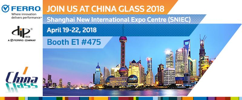 Ferro and Dip-Tech to present full solution for glass printing Together at China Glass 2018 Celebrating 10 years of Dip-Tech machines in China