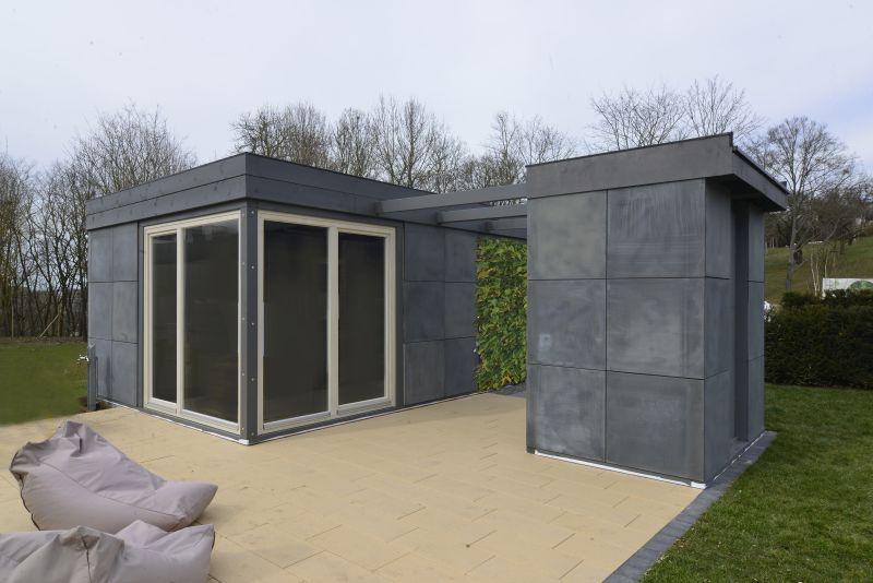 "Carbonbeton-Pavillons ""Tiny House"": klare Formen, mobile Module"