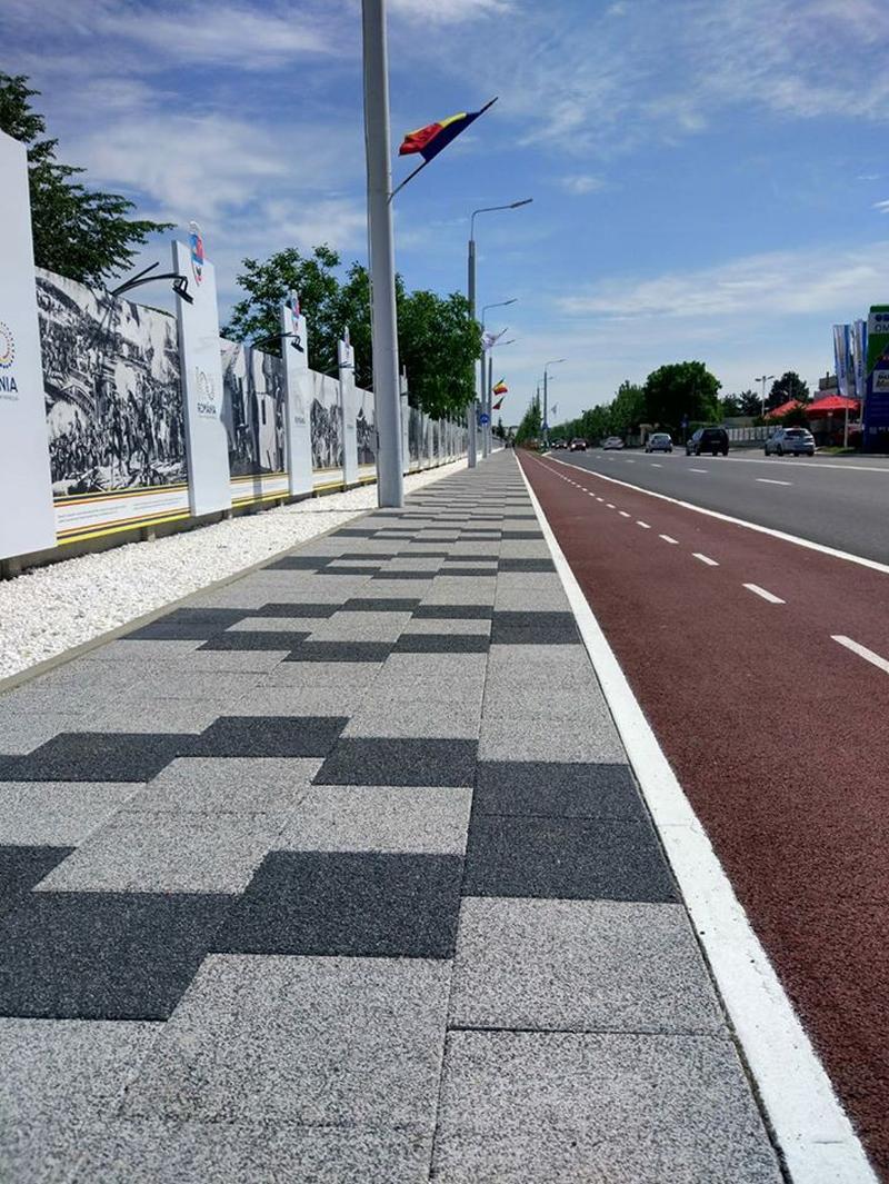 Bulevardul Unirii din Buzău a fost reamenajat cu produse Elis Pavaje